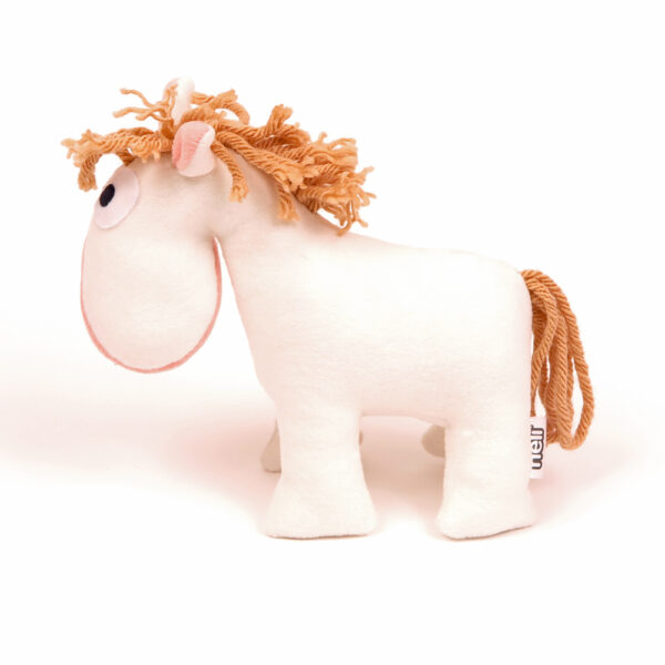 Česká ručně šitá hračka – Koník Bělouš