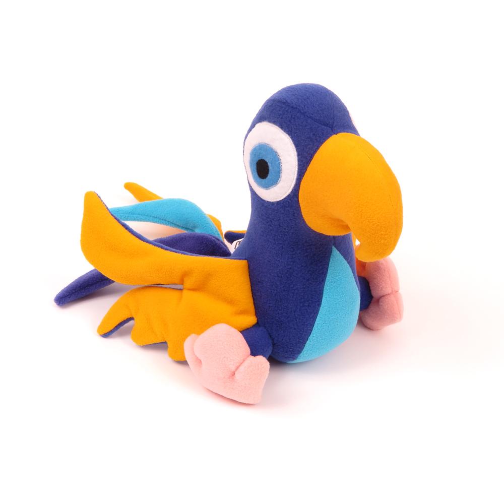 Česká ručně šitá hračka – Papoušek Eda
