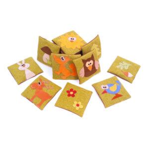 Česká ručně šitá hračka – Lesní pexeso