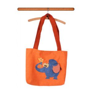 Česká ručně šitá hračka – Taška přes rameno se slonem