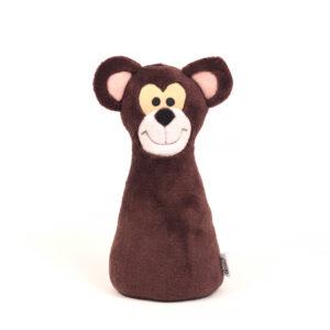 Česká ručně šitá hračka – Kuželka Medvěd
