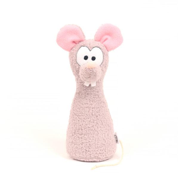 Česká ručně šitá hračka – Kuželka Myška